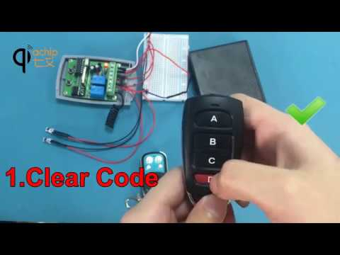 How to use: New Red light remote control Duplicator Key Fob copy CAME Top 432NA