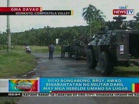 BP: NPA at militar, nagka-engkwentro sa Compostela Valley