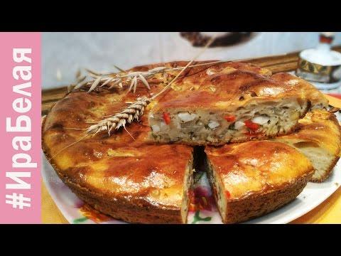 Рецепт: Пирог с цветной капустой и брокколи на