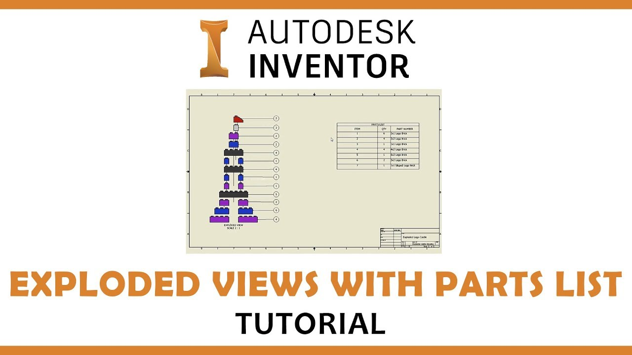 Part lists and balloons (from the trenches autocad tutorial.