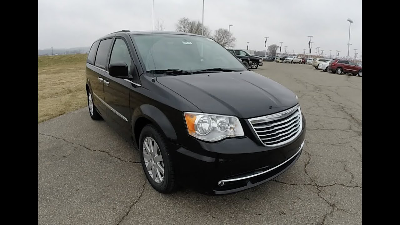 2015 chrysler town country touring black new minivan for sale indiana 17612 youtube. Black Bedroom Furniture Sets. Home Design Ideas