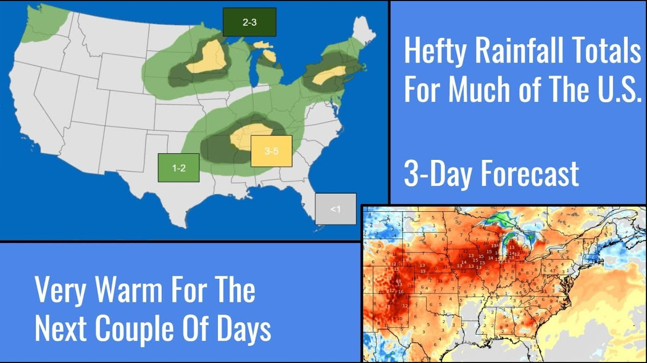 3 Day U.S. Weather Forecast I Extreme Heat for the East and Heavy Downpours  Expected
