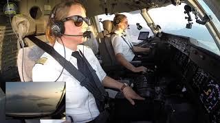 Captain Inge's LOVELY MD-11F Sunset Landing in Hongkong, Cockpit View!!! [AirClips]