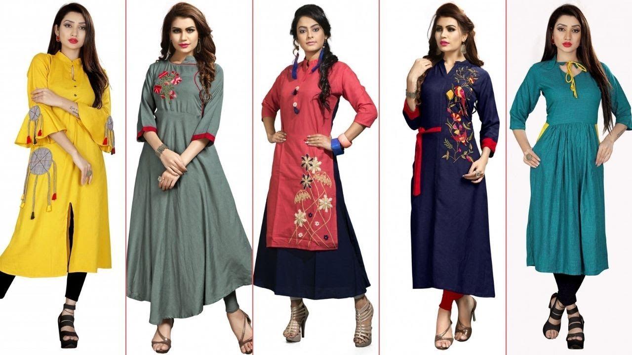 New Fashion Latest Long Kurti Designs For Indian Women Stylish Ladies Kurta Collection Youtube