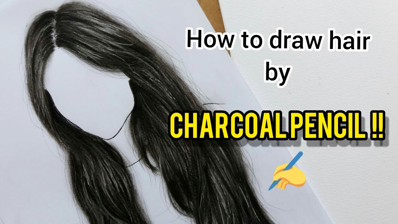 HOW TO DRAW realistic hair | by Charcoal Pencil - YouTube