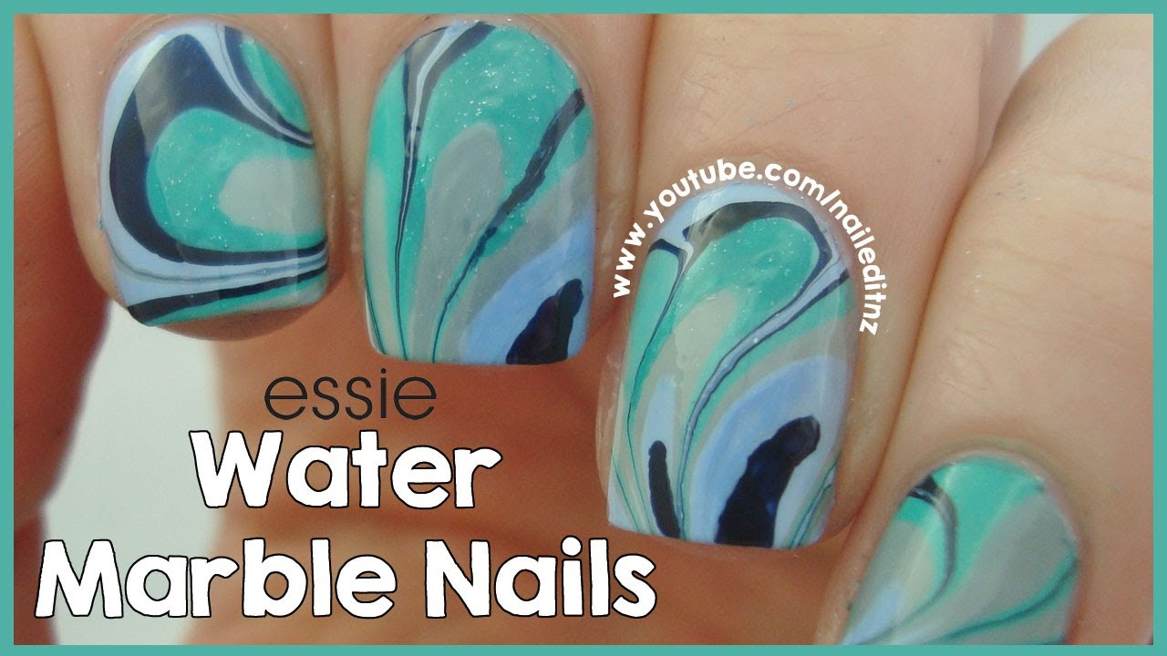 Water Marble Nail Art Tutorial Tips Youtube