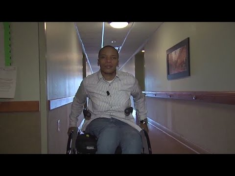 Paralyzed stray bullet victim fighting...