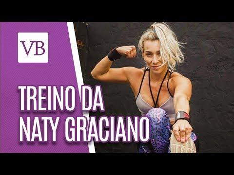 Treino da famosa: Naty Graciano - Você Bonita (06/09/18)