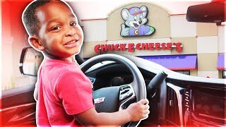DJ Takes Mommy's Car To Chuck E Cheese