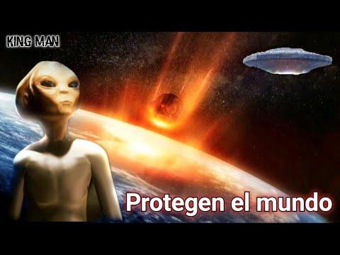 Las naves extraterrestres ovnis destruyen asteroides o meteoros antes de que impacten la tierra ☄?