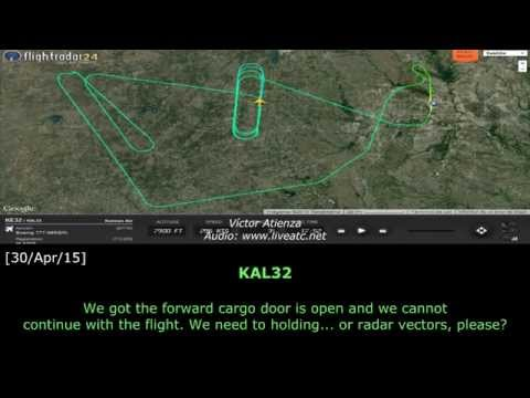 [REAL ATC] Korean CARGO DOOR OPEN at DFW
