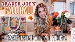 TRADER JOE'S FALL GROCERY HAUL 2019 | TASTE TESTING ALL THE NEW PUMPKIN & FALL FOODS! | Liza Adele