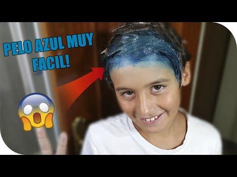 PELO AZUL EN CASA SUPER FACIL!