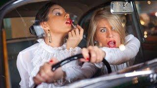 ТП за рулем!!! Пьяные бабы приколы!!! подборка 2015