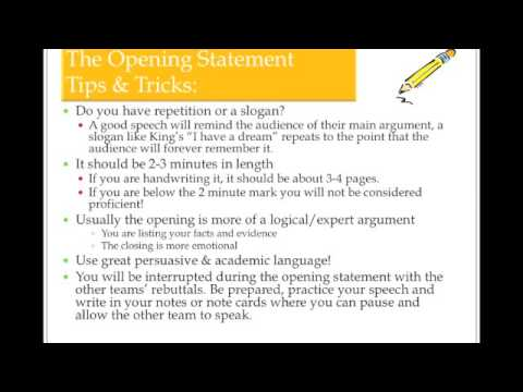How To Write An Opening  Closing Statement   Youtube