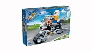 Ban Bao Police Motorcycle Toy Building Set, 140-piece (toy)