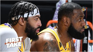 Would a Lakers title benefit LeBron or Anthony Davis more? First Take debates