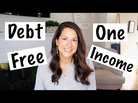 DEBT FREE on ONE INCOME ~ How we did it family budget