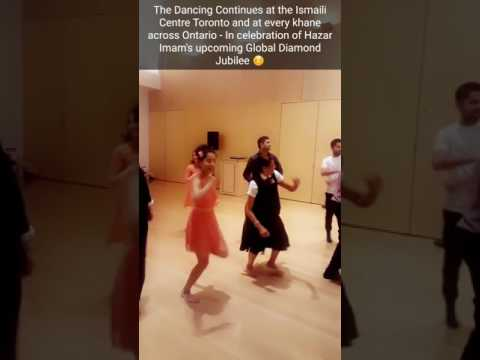 Dancing Raas at the Ismaili Centre - Getting ready for Diamond Jubilee (July 11th 2017)