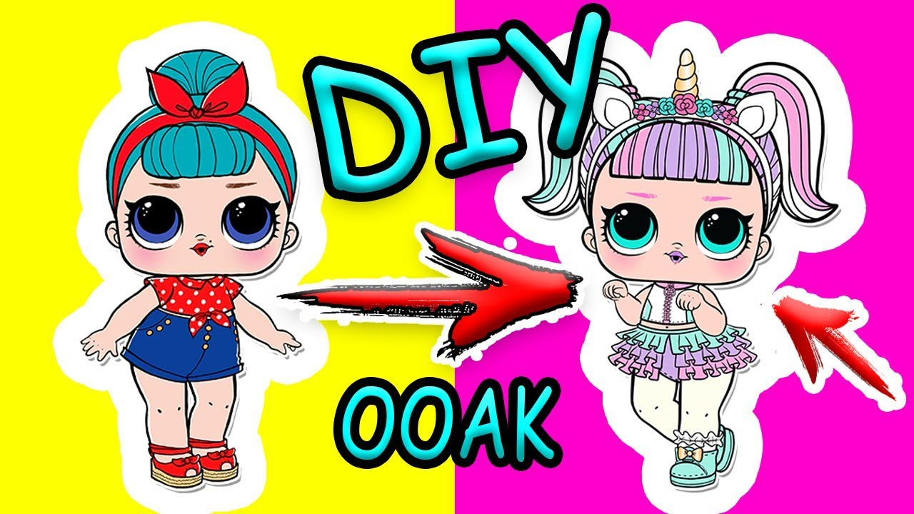 DIY Кукла лол ЕДИНОРОГ своими руками из куклы #ЛОЛ. Как ...