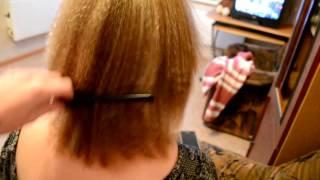 Ракушка на короткие волосы с гофре.