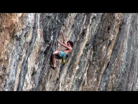 adam Ondra attempting Mamichulo, 9b, Oliana, Spain