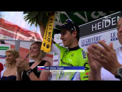 Tour de Suisse 2014 - stage 3 - Peter Sagan at the podium