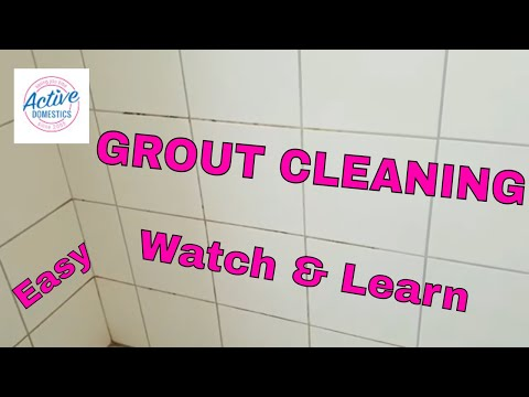 Watch Me Clean My Bathroom Grout THEN SEE the RESULTS