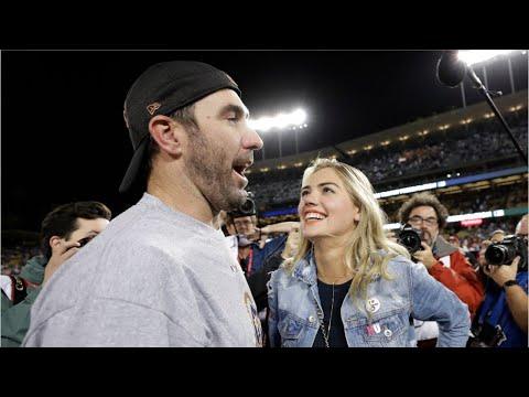 Kate Upton Gives Justin Verlander Big Smooch After World Series Win
