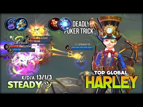 Great Inventor with Deadly Magic Trick! sᴛᴇᴀᴅʏッ Top Global Harley ~ Mobile Legends