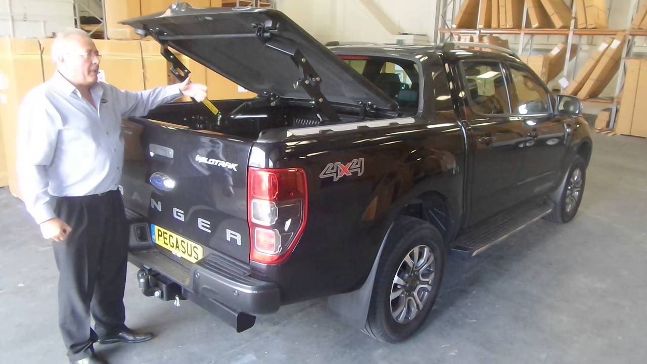 ford ranger wildtrak top up cover tonneau lid youtube