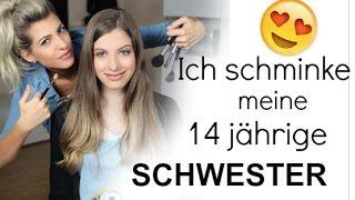 ICH SCHMINKE MEINE 14JÄHRIGE SCHWESTER + REAKTION ♡ Sarah Nowak