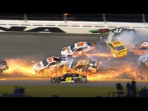 Nascar - Daytona - 2018 - Crash Compilation