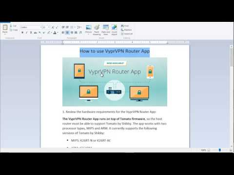 How to set up or install VyprVPN Router App - YouTube
