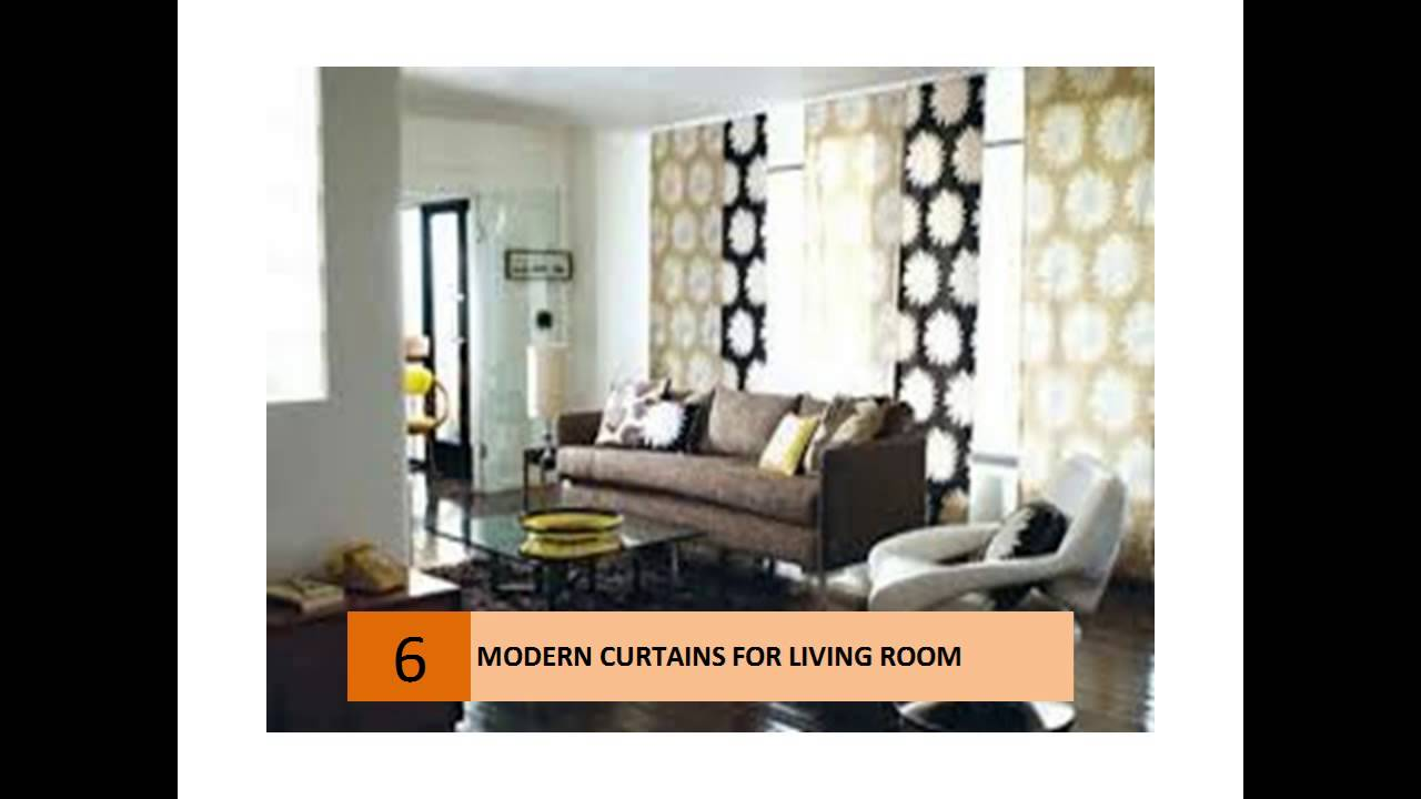 modern curtain ideas for your living room youtube - Curtain Design Ideas For Living Room