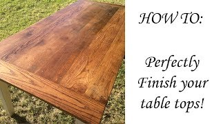 How to finish your dining table professionally!