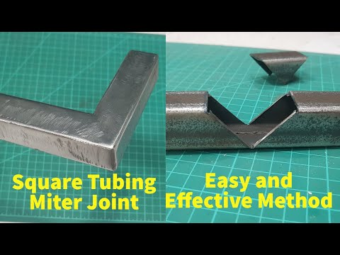 How to make square tubing miter joint - Welding Steel tube corner joint