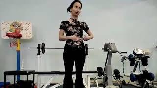 Видео-урок, Китайский танец, Разминка, упражнения для укрепления пресса