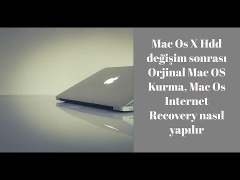 Mac Os X  Hdd değişim sonrası Orjinal Mac OS Kurma, Mac Os Internet Recovery nasıl yapılır