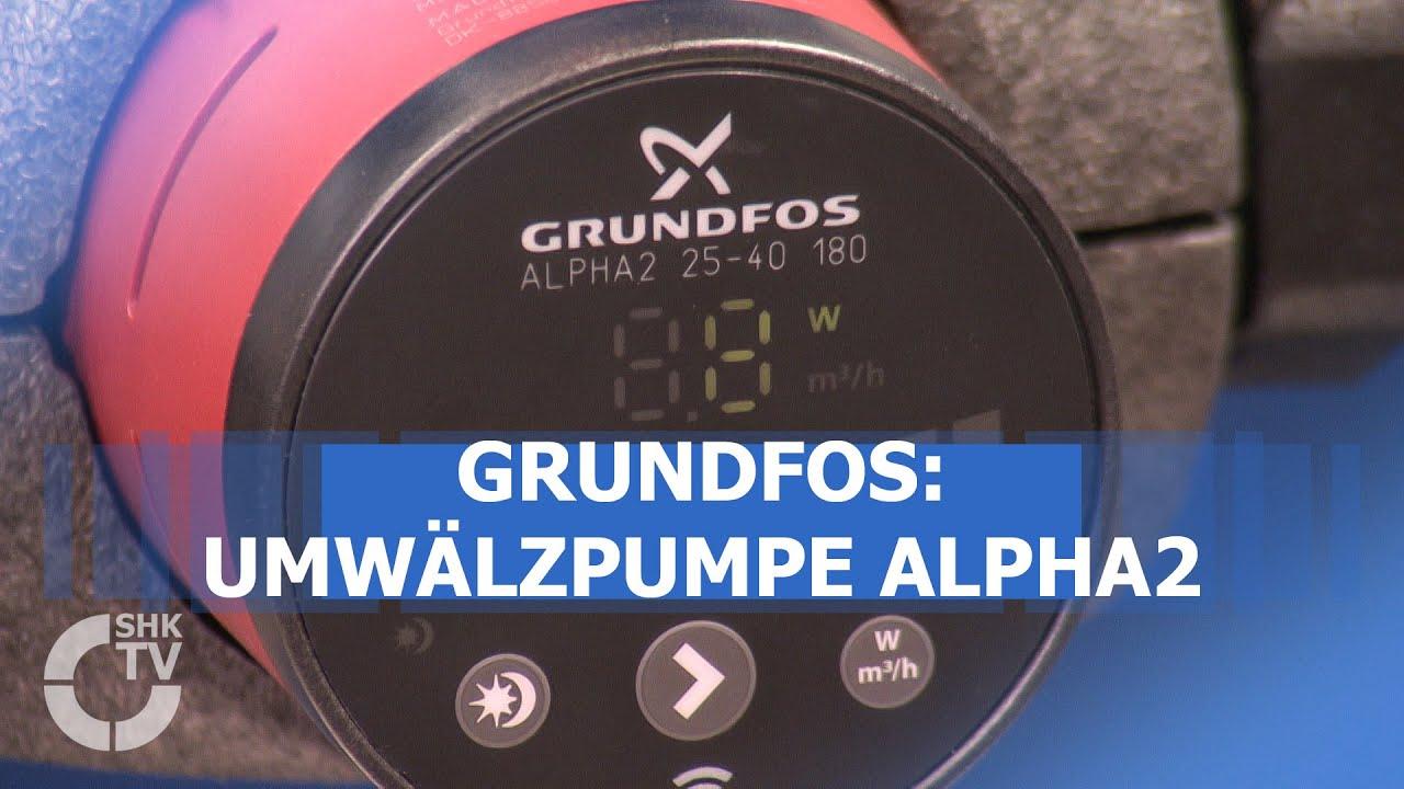 Gut bekannt Grundfos: Umwälzpumpe ALPHA2 - YouTube IN28