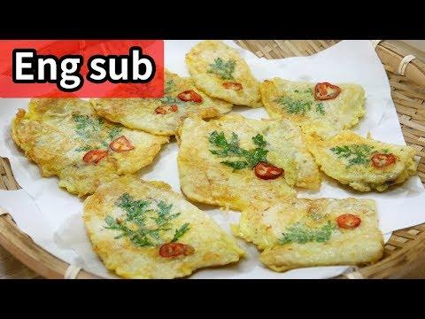 Pollock Fish Pancakes ( Eng Sub )