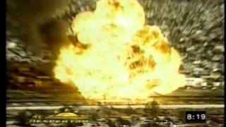 Train Colides with Gasoline Tanker in Mexico June 1977