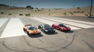 Lamborghini CENTENARIO vs LaFERRARI vs McLaren P1 Drag Race | Forza Horizon 3