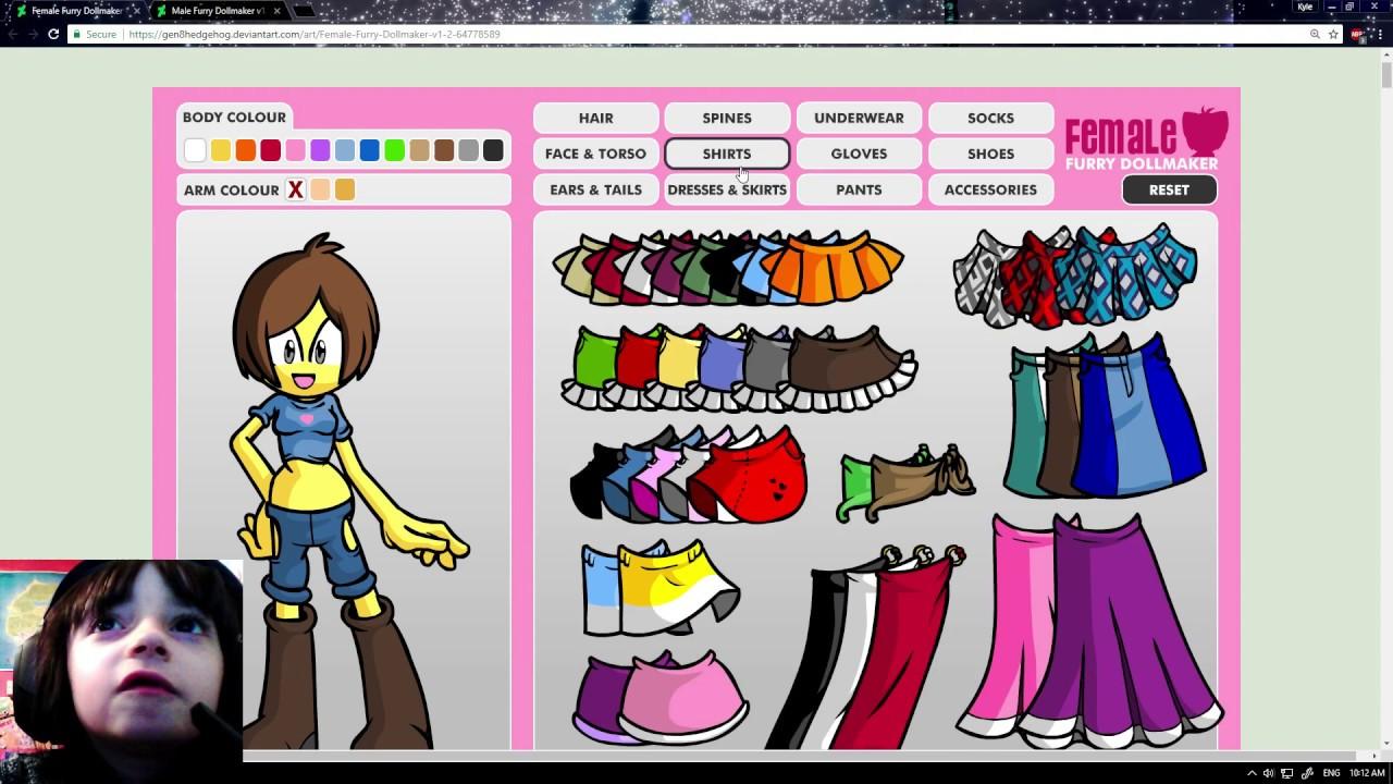 Undertale Character Creator Skyla Plays Furry Doll