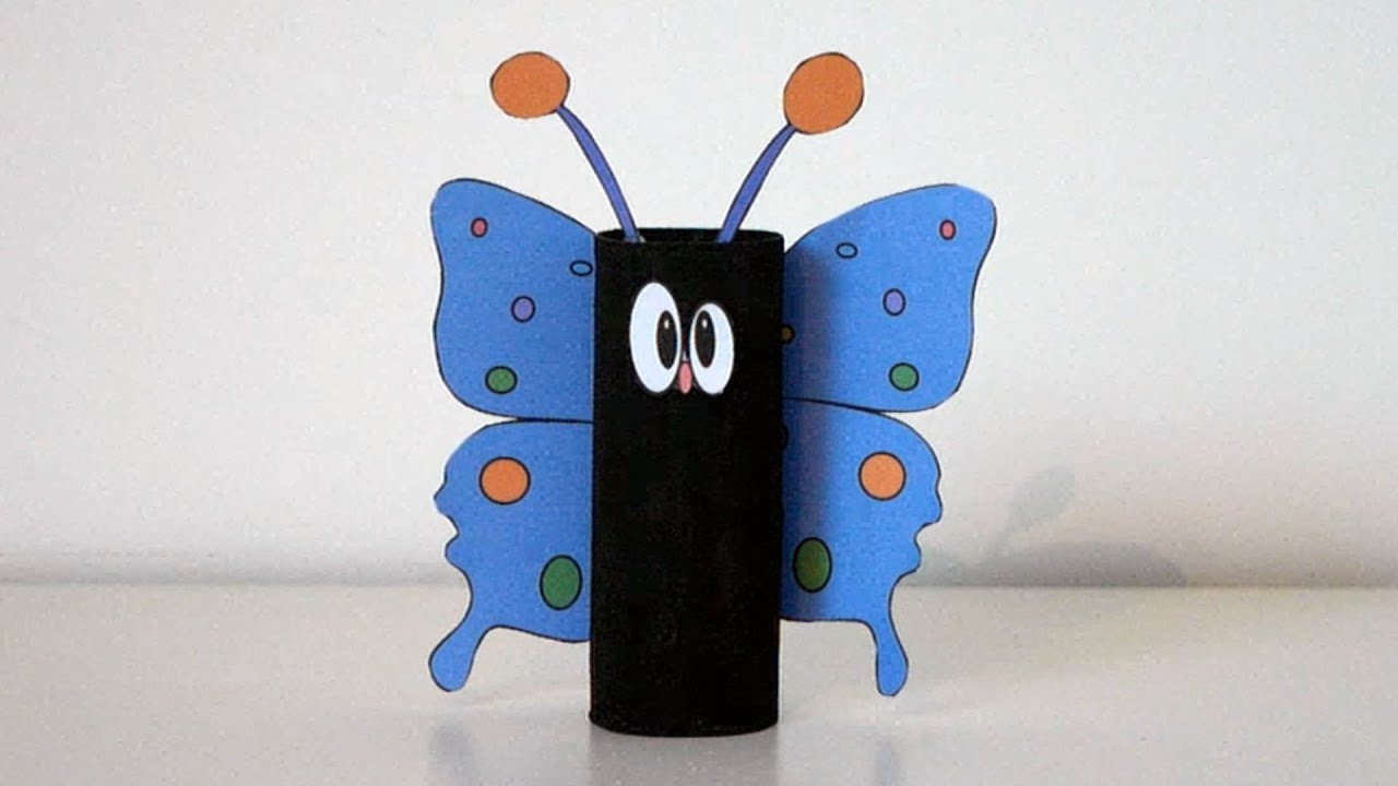 Très Housing for children - Pretty butterfly with toilet roll - Manual  PD53