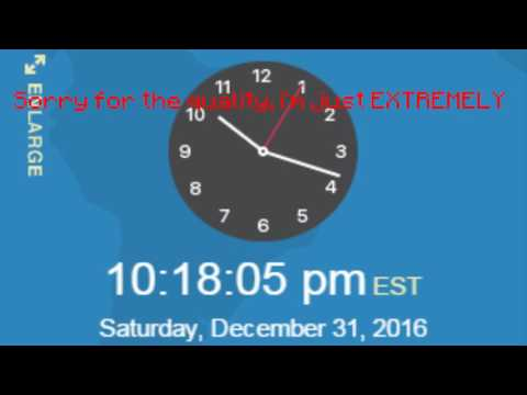 NEW YEARS 2017 EASTERN TIME