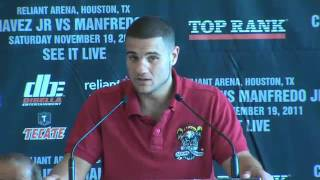 Peter Manfredo at Houston Press Conference