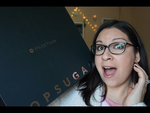 Unboxing: POPSUGAR Must Have Box Winter 2018
