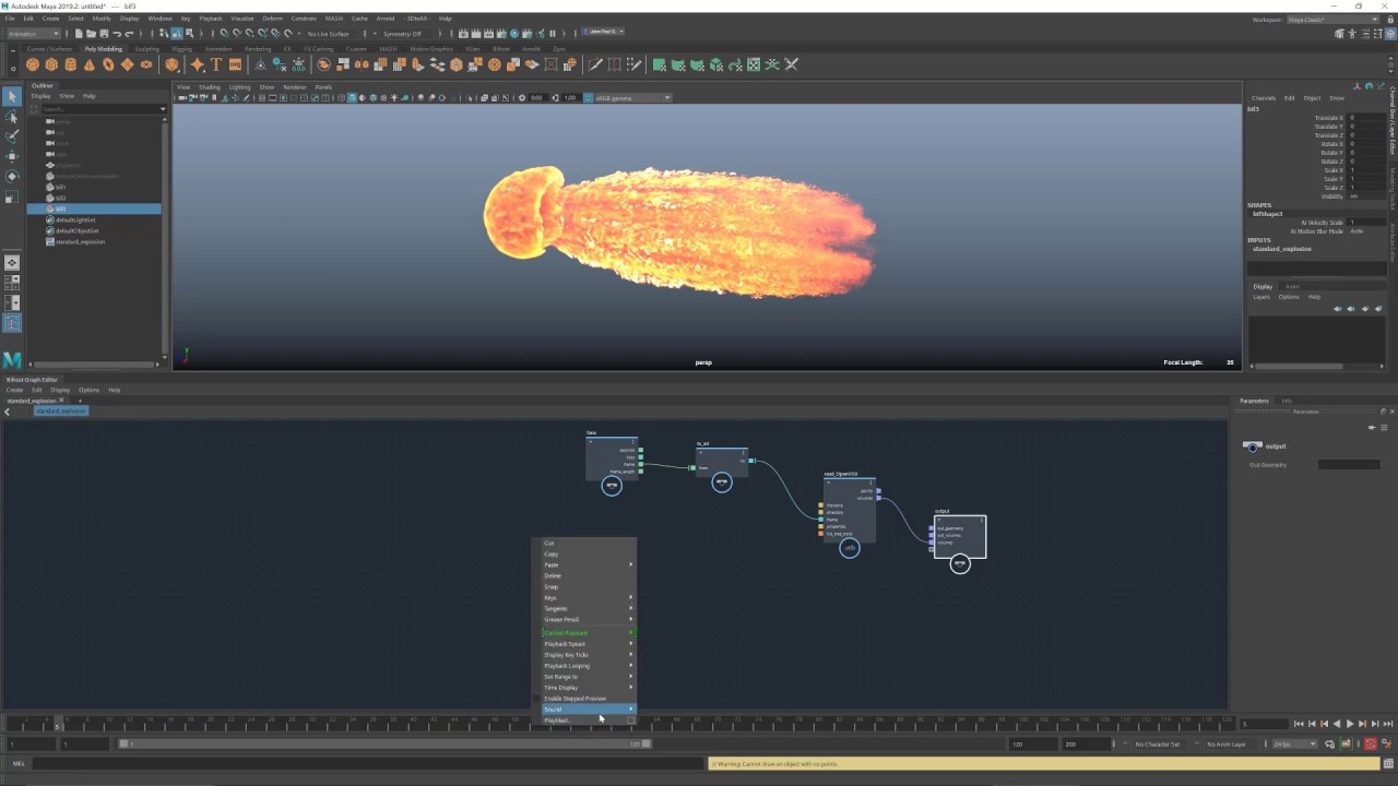 Easy explosions in Bifrost for Maya