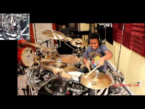 Nickelback - Feed the Machine, Jonah Age 12, Drum Cover